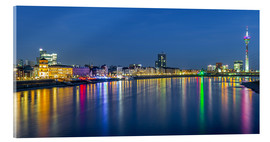 Acrylic glass  Duesseldorf night skyline - rclassen