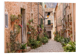 Foam board print  Lane in Valldemossa, Mallorca (Spain) - Christian Müringer