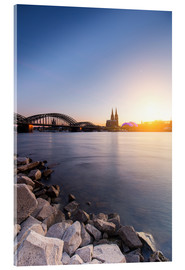 Acrylic print  Cologne on the Rhine-shore - rclassen