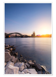 Premium poster  Cologne on the Rhine-shore - rclassen