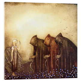 Acrylic print  The Story of Skutt the Moose and Princess Tuvstarr - John Bauer