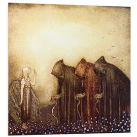 Foam board print  The story of Skutt the Moose and little Princess Tuvstarr - John Bauer