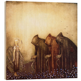 Wood print  The story of Skutt the Moose and little Princess Tuvstarr - John Bauer