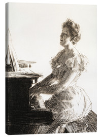 Canvas  At the piano - Anders Leonard Zorn