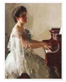 Premium poster  At the piano - Anders Leonard Zorn
