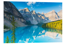 Foam board print  Moraine Lake in the Rocky Mountains - Canada - rclassen