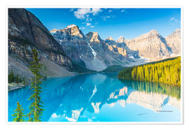 Poster Moraine Lake in the Rocky Mountains - Canada