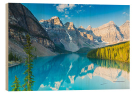 Wood print  Moraine Lake in the Rocky Mountains - Canada - rclassen
