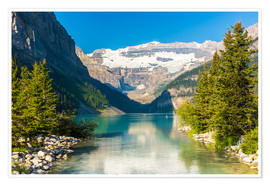 Premium poster Lake Louise at Alberta Banff National Park - Canada