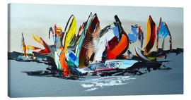 Canvas print  Abstract sailing - Theheartofart Gena