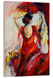Wood  Flamenco - Theheartofart Gena