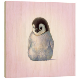 Wood print  Penguin Chick - John Butler
