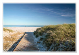 Premium poster  Beach at Dueodde on the island of Bornholm (Denmark) - Christian Müringer