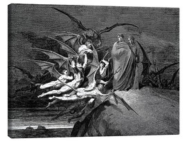 Canvas  The Inferno, Canto 21  - Gustave Doré