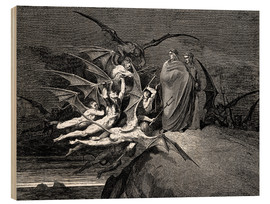 Wood  The Inferno, Canto 21  - Gustave Doré