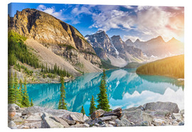 Canvas  Canada - Sunrise at the Moraine Lake - Banff Alberta - rclassen