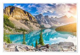 Premium poster  Canada - Sunrise at the Moraine Lake - Banff Alberta - rclassen