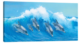 Canvas print  Leaping Dolphins - John Butler