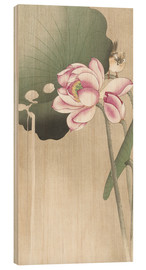 Wood print  Lotus Flower and Finch - Ohara Koson