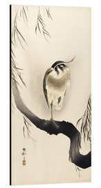 Aluminium print  Heron on a weeping willow - Ohara Koson