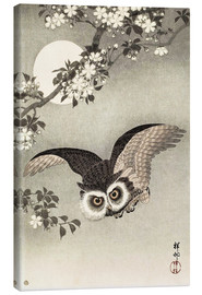 Canvas print  Owl in flight - Ohara Koson