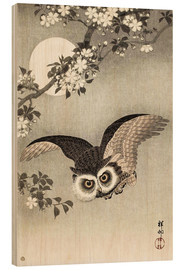 Wood print  Owl in flight - Ohara Koson