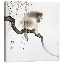 Canvas print  Japanese macaque on a tree - Ohara Koson