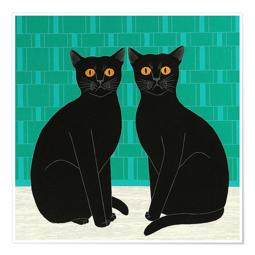 Premium poster Twin Cats