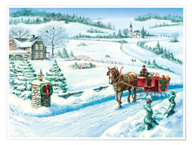 Premium poster Festive Ride Horsecarriage