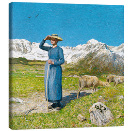 Canvas  Lunch in the Alps - Giovanni Segantini