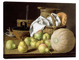 Canvas print  Still Life with Melon and Pears - Luis Egidio Meléndez