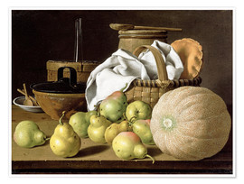 Premium poster  Still Life with Melon and Pears - Luis Egidio Meléndez