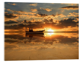 Acrylic print  The fishing boat in the sunset - Monika Jüngling