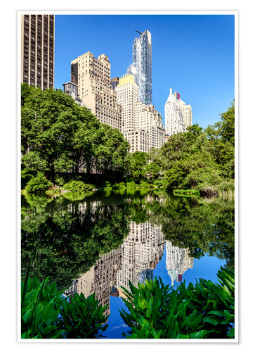 Premium poster New York City - Central Park South (The Pond)