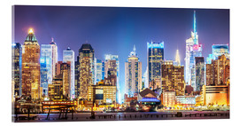 Acrylic print  New York Midtown Skyline by Night - Sascha Kilmer