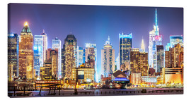 Canvas  New York Midtown Skyline by Night - Sascha Kilmer