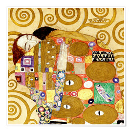 Poster  The hug - Gustav Klimt