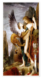 Premium poster  Oedipus and the Sphinx - Gustave Moreau
