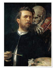 Premium poster Self-Portrait with Death Playing the Fiddle