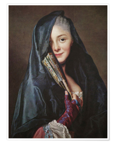 Premium poster Lady with veil