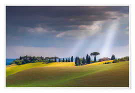 Premium poster  Tuscany landscape - FineArt Panorama