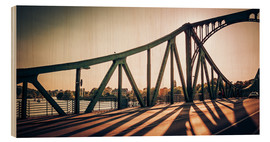 Wood print  Berlin - Glienicke Bridge - Alexander Voss