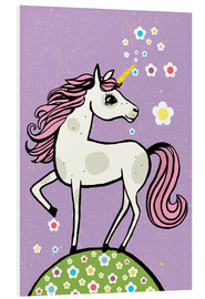 Foam board print  Magic dust, the unicorn - Little Miss Arty