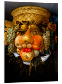 Acrylic print  Portrait of a man from fruits - Giuseppe Arcimboldo