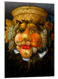 Foam board print  Portrait of a man from fruits - Giuseppe Arcimboldo