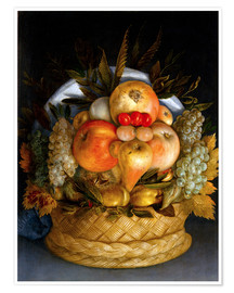 Premium poster  Portrait of a man from fruits - Giuseppe Arcimboldo