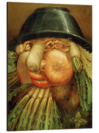 Aluminium print  The Vegetable Gardener - Giuseppe Arcimboldo