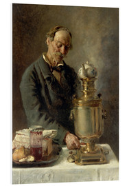Konstantin Jegorowitsch Makowski - At the samovar