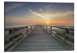 Aluminium print  Schoenberger beach jetty at sunrise - Dennis Stracke