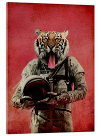 Acrylic print  Space tiger - Durro Art